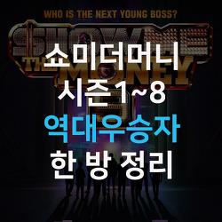 쇼미더머니 역대우승자 시즌1~8 총정리
