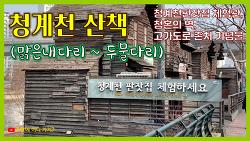 청계천 산책 (맑은내다리 ~ 두물다리) 청계천 판잣집 체험관, 청혼의 벽, 고가도로 존치 기념물