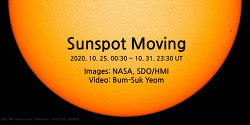 Sunspot Moving (movie). 2048 x 1024 pixels.