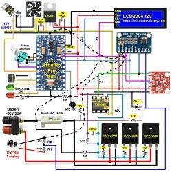 배터리 용량체크를 위한 정전류 방전기 자작 회로도 및 아두이노 스케치 파일 공유