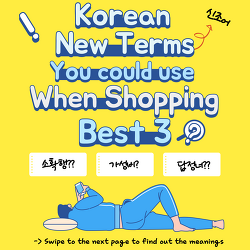 [Daily JOKOer] Korean New Terms You could use When Shopping -Best 3-
