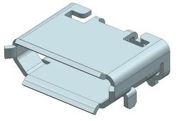 제품 기구 설계자를 위한 MICRO USB 단자 3D 데이터 공유합니다.
