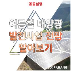 여름철 태양광 발전사업 전망 알아보기