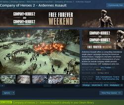 (스팀 무료게임) Company of Heroes 2 - Ardennes Assault