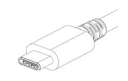 USB 타입 C 커넥터.