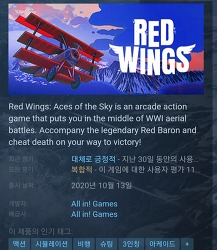 (스팀 무료 게임) Red Wings: Aces of the Sky