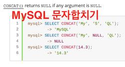 mysql 문자열 합치기 / 문자열 자르기 / 문자열 바꾸기 CONCAT() SUBSTRING()
