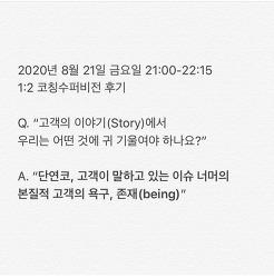 [후기] 1:2 코칭 수퍼비전 후기 (2020-08-21, 21:00-22:15)