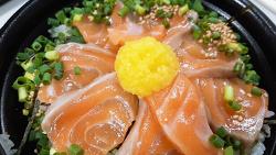 일본 직장인 도시락 - 연어 덮밥