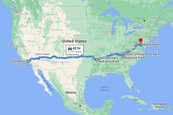 이삿짐 싣고 대륙횡단! 미국 서부 LA에서 동부 워싱턴DC까지, 그것도 한 달 동안 두 번을 연달아서~