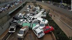 중국 정저우 터널 홍수 침수 현장  VIDEO:Horror of Zhengzhou subway and tunnel floods