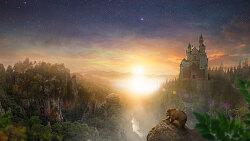 포토샵 강좌 마운틴 캐슬 (Photoshop Manipulation Tutorial Mountain Castle)