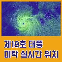 제18호 태풍 미탁 실시간 현재 위치 정보 공유