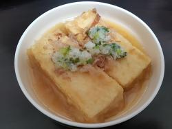 가다랑어 국물과 함께하는 튀김 두부 /  아게다시토후