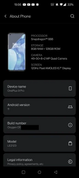 OnePlus - 스크린샷 유출을 통해 원플러스9 프로 주요 스펙 유출