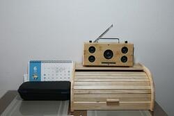 대나무 수저통 2.1채널 블루투스 라디오 스피커 - 이 정도면 가내 수공업!! ㅎ