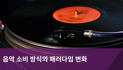 음악 소비 방식의 패러다임 변화