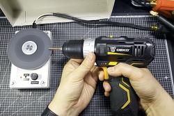 HDD그라인더와 전동 드릴을 사용하여 스폿 용접기 크롬 동봉 다듬기