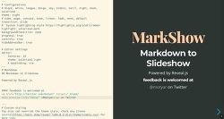마크다운으로 슬라이드쇼, 프레젠테이션 만드는 방법