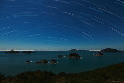거제도 섬들과 별의 일주