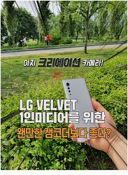 LG 벨벳 이지크리에이션 카메라 써본 후기