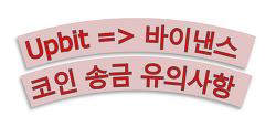 업비트(Upbit) 바이낸스 코인 송금 유의사항