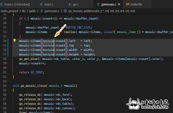 비주얼 스튜디오 코드 컬럼 모드 블록(Column Block)