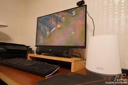 메시 와이파이 공유기 넷기어 오르비 RBK752!! 싱크된 새틀라이트는 전기만 꽂으면 인터넷 사용