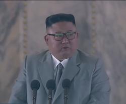 김정은 울컥 ㅜㅜ, 북한 노동당 창건 75주년 열병식 연설