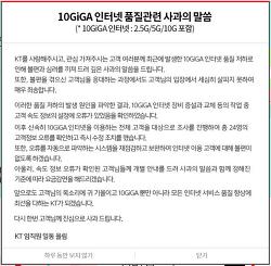 KT 10GiGA 인터넷 품질 저하, 구현모 대표가 사과했다