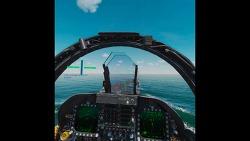 F/A-18C 항모 야매 착륙 시도!