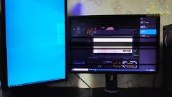 듀얼 모니터 깜박임 증상 해결 방법 (델 모니터 U2412M)