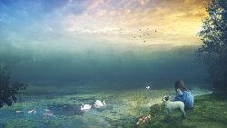 포토샵 합성 강좌 연못 (Photoshop Manipulation Tutorial Forest Pond)