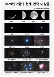 2020년 2월의 천체 관측 대상들  The celestial objects in the February Sky