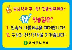 [마실통신 9월호] 홍동면 깨끗한 치아마을 만들기