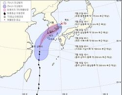 태풍다나스 접근중과 아베의무리수