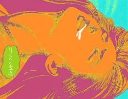 [사진편집] 일본만화책 'Crying Freeman'의 한 장면