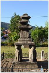 강원 홍천 괘석리 사사자 삼층석탑 및 희망리삼층석탑