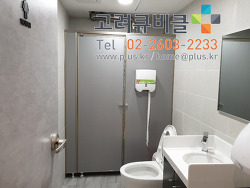 기본 몰딩형 LPM 큐비클 화장실칸막이는 아직도 건재하다. 서울시 성북구