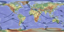 2019-2040 total solar eclipse 2040년까지의 개기 일식