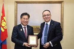 *류재선 전기공사협회장, 몽골 정부훈장 수상