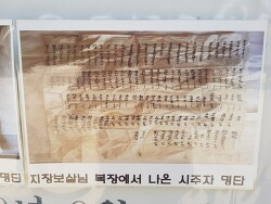 [명부전] 지장보살 복장에서 나온 시주자명단