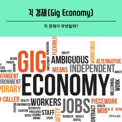 [카드뉴스] 긱 경제(Gig economy) 에 관해서