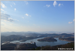 충북 진천 두타산 한반도 지형