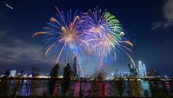 여의도 불꽃축제  사진 몇 장 과 부루나이 불꽃 촬영방법