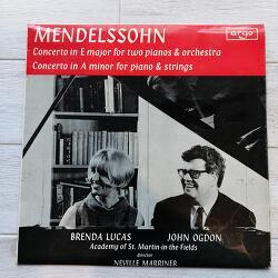 멘델스존의 두대의 피아노를 위한 협주곡 by John Ogdon, Brenda Lucas (존 오그돈, 브렌다 루카스, 네빌 마리너, ASMF)