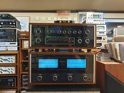 맥킨토시 베스트셀러 C34V 프리엠프와 MC7270 파워엠프 조합입니다 -오리지널 우드케이스 수납 A급 220V-