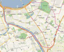 송파 둘레길, 소리길 21km 지도/ GPX