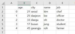 pandas DataFrame 데이터프레임