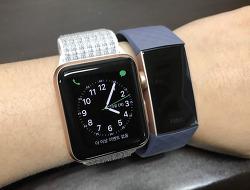 Fitbit Charge3 핏빗 차지3 블루그레이 개봉기 애플워치3 비교